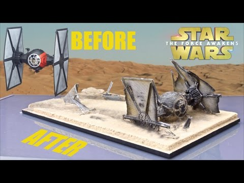 """Hasbro """"The Force Awakens"""" Tie Fight Makeover- Chris' Custom Collectables!!"""