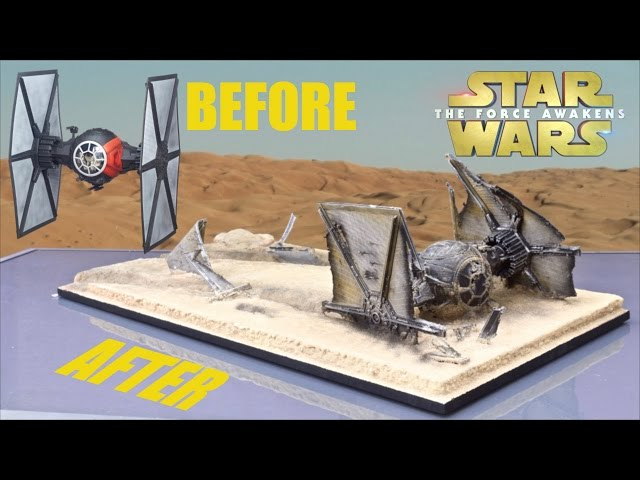 Hasbro The Force Awakens Tie Fight Makeover- Chris Custom Collectables!!