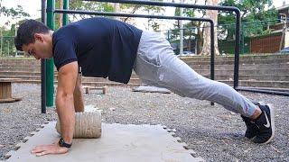 Fazer flexões pulso fraco sente ao