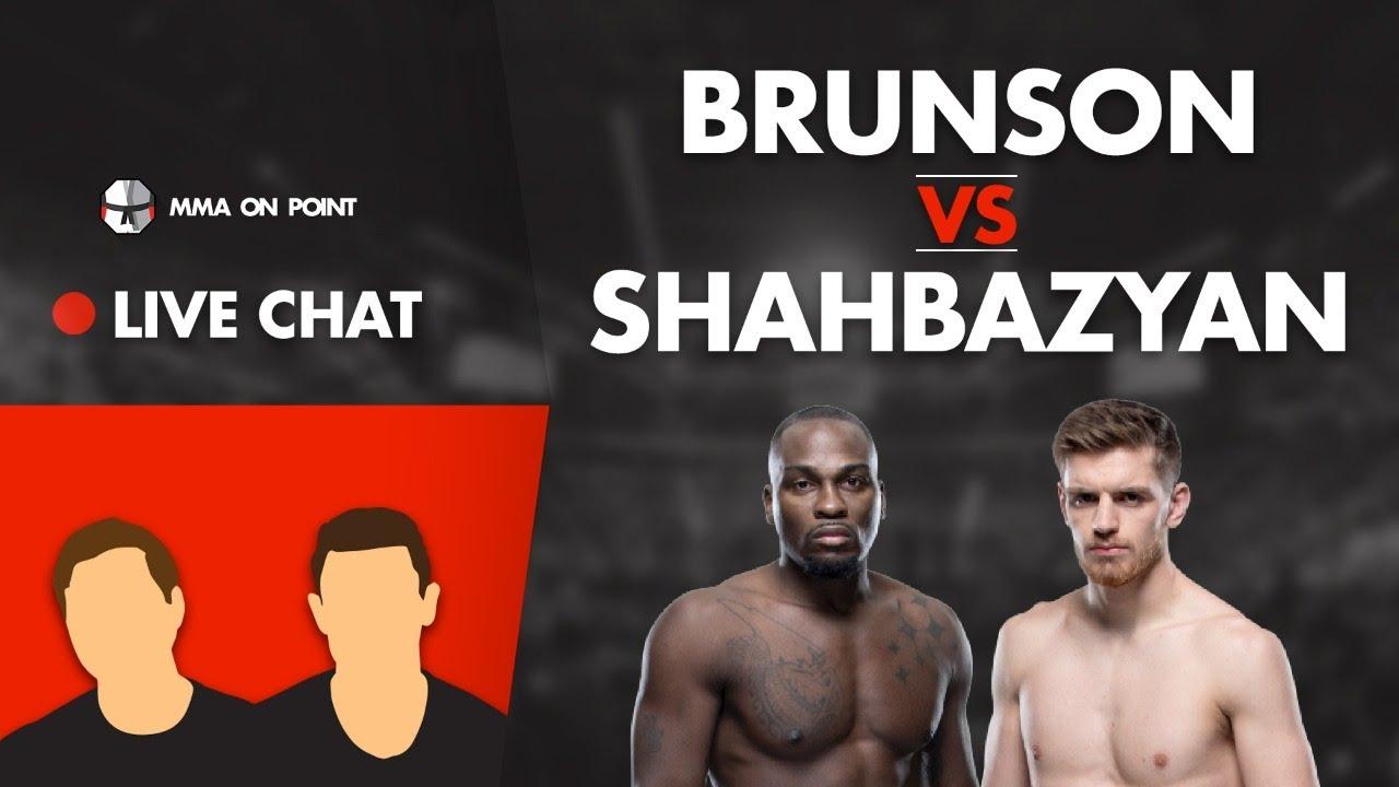 MMA On Point Live Chat: Brunson vs Shahbazyan Preview, Khabib vs Gaethje, Tony Ferguson, etc