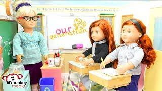 Our Generation Dolls School Collection!  18 inch OG Twin Dolls, School Playsets Unboxing & Play!