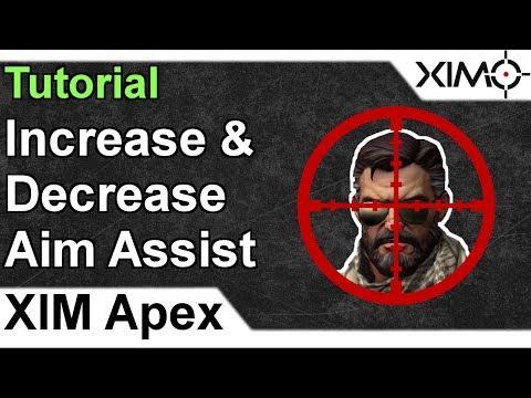 XIM APEX - How To Increase & Decrease Aim Assist Tutorial - YouTube