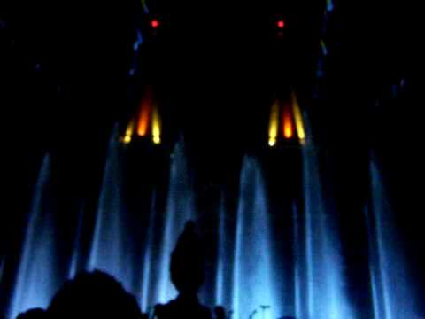 The show water curtain !! Thai Catholic song