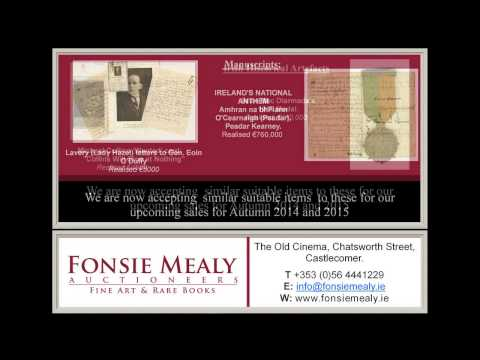 Fonsie Mealy Fine Art Auctioneers | Looking for Consignments from Limerick and Surrounding areas