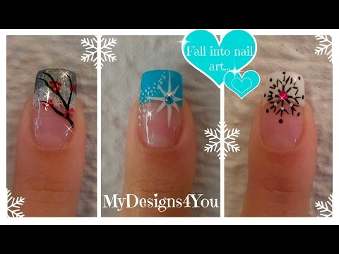 3 Winter French Tip Nail Designs