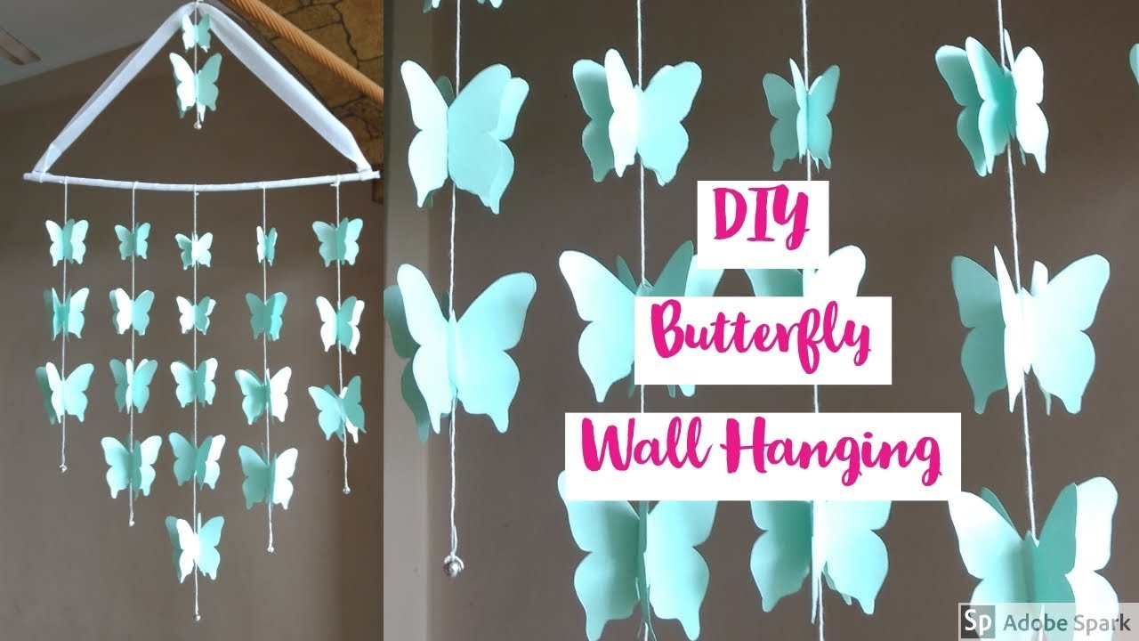 Diy Beautiful Paper Butterfly Wall Hanging Home Decor