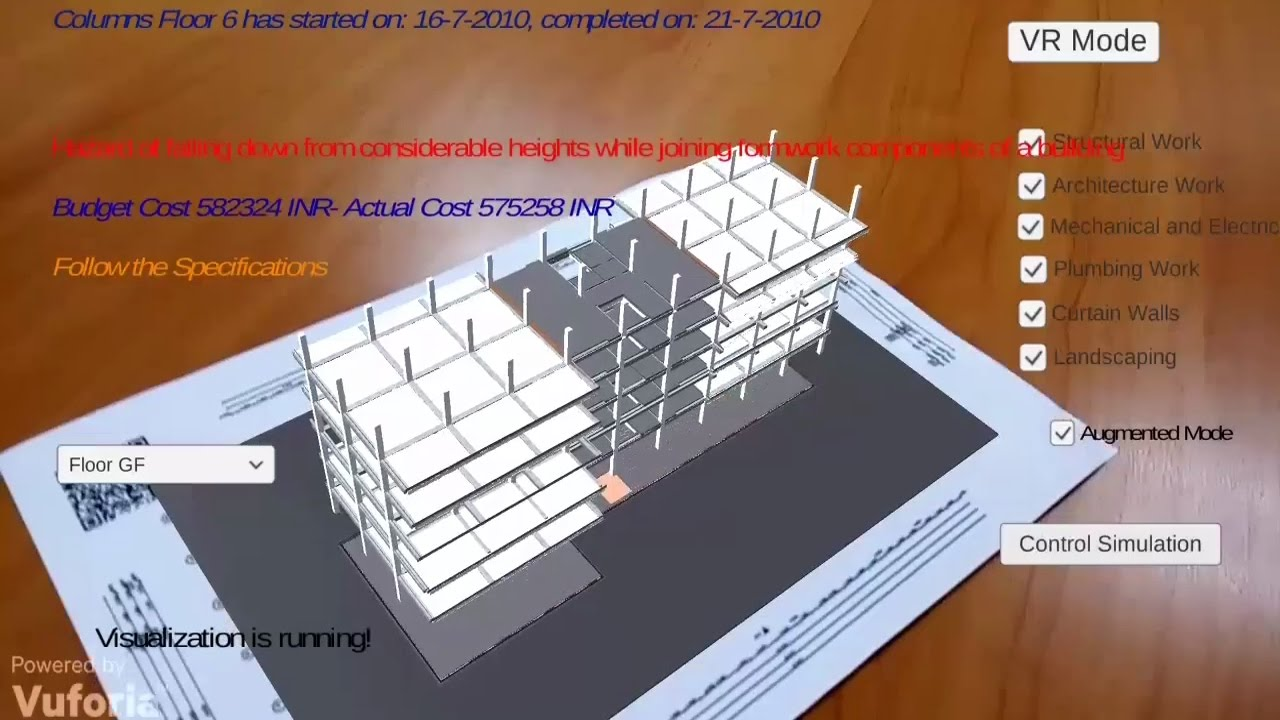 bim augmented  virtual reality app for construction