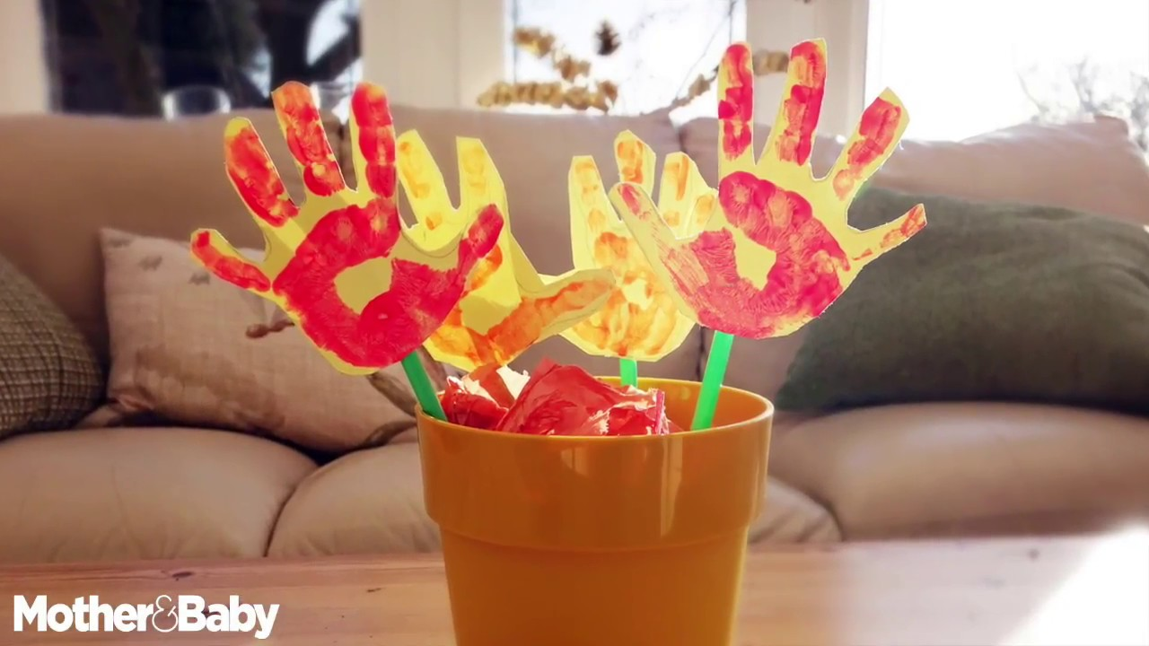How To Make Hand Flowers Easy Arts And Crafts For Toddlers And