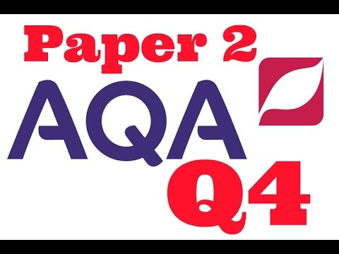 AQA Paper 2, Question 4, English Language 8700 GCSE Viewpoints and Perspectives