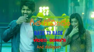 Geetha govindam back to back video songs / vijay  devera konda / rashmika And back to back dialouges