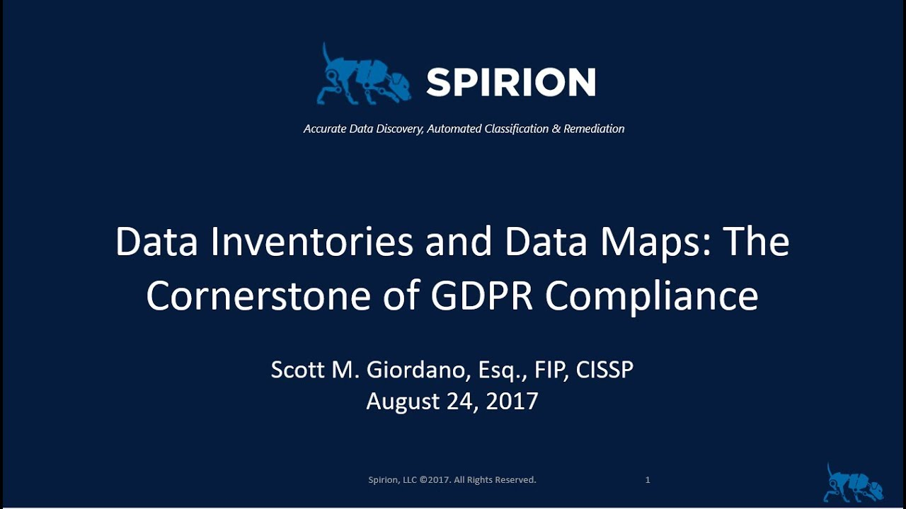 Data Inventories And Data Maps The Cornerstone To GDPR Compliance - Data mapping exercise