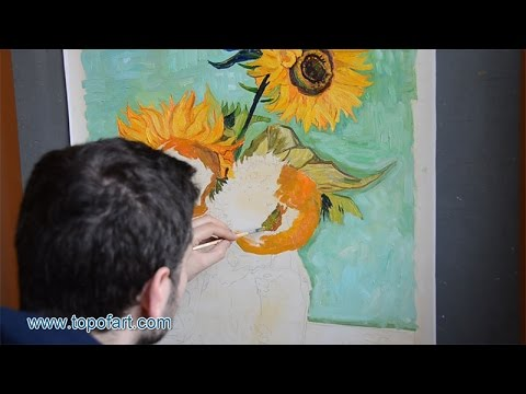 Van Gogh Three Sunflowers In A Vase Art Reproduction Oil