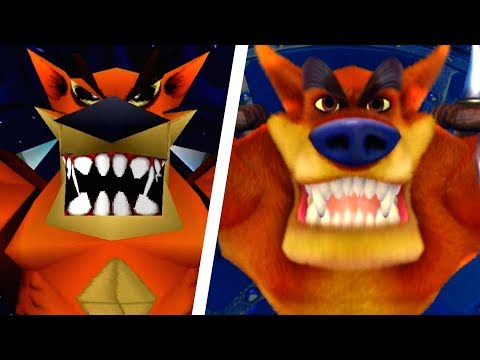 Crash Bandicoot N. Sane Trilogy - All Bosses Comparison (PS4 vs Original)