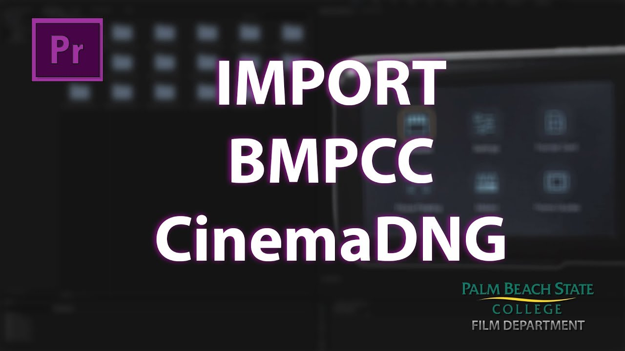 Import Blackmagic Pocket CinemaDNG Raw Files to Premiere Pro