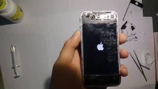 видео Замена стекла iPhone 4