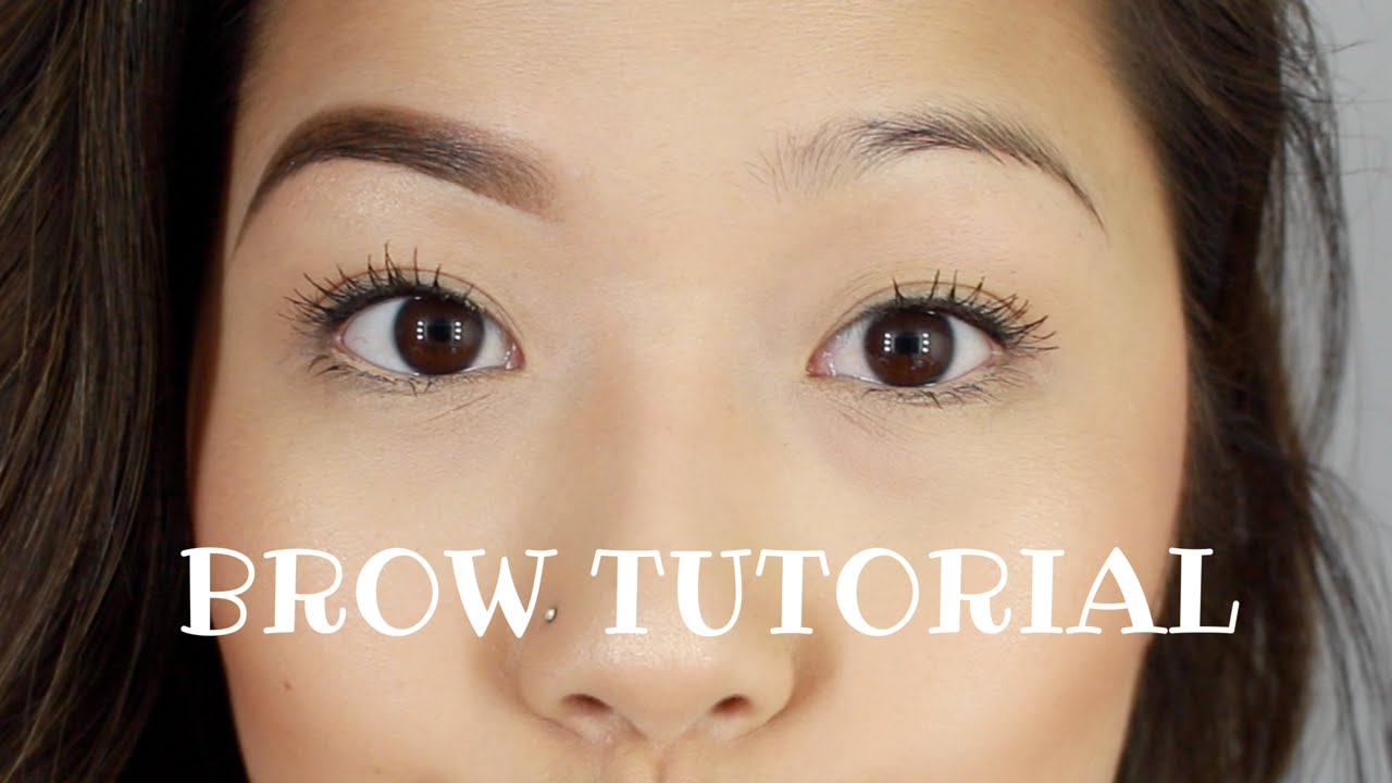 Eyebrow Tutorial For Thin Brows Youtube