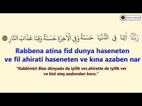 Rabbena atina duası ezberle Davut Kaya (10 tekrar)