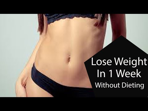 How To Lose Weight In A Week At Home Easy Way Without Dieting