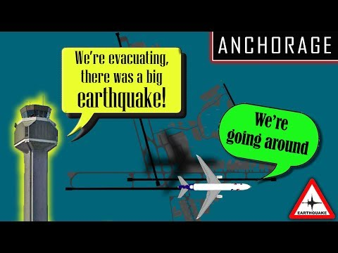 [REAL ATC] Major Earthquake strikes Anchorage, Alaska | AIRPORT CLOSED