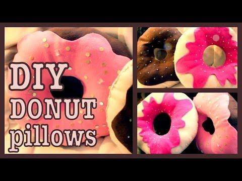 DIY Donut PILLOWS! Cute & Decorative