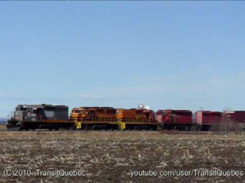 Quebec Gatineau QGRY 729 train (bonus : 6904) (Train Video #22)