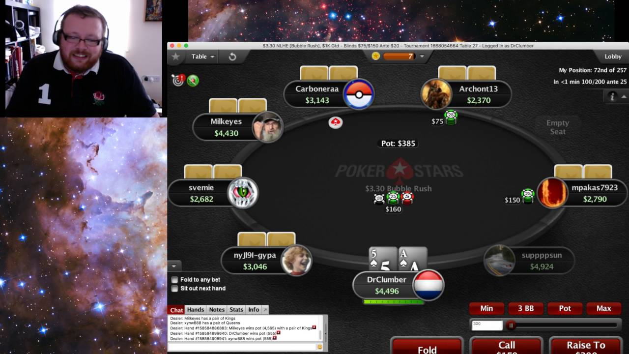 Poker bubble rush strategy take the odds in craps