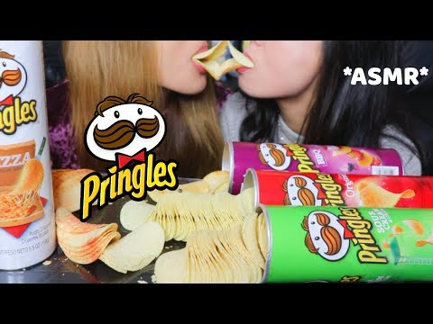 ASMR: EATING PRINGLES CHIPS (EXTREME CRUNCHY SOUNDS) mukbang