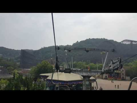 Sapphire Yu Nguyen w Cable car at Everland,Seoul Korea Sept16