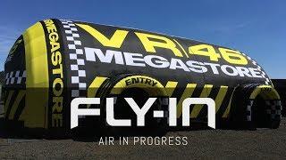 VR46 Megastore - Struttura Gonfiabile Autoportante a basso consumo energetico
