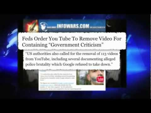"Feds Order YouTube to Remove Videos for Containing ""Government Criticism"""