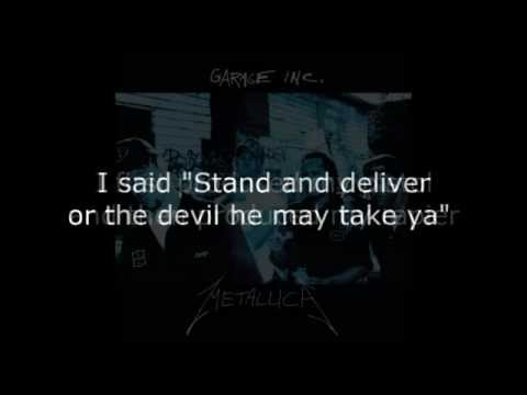 Metallica  Whiskey In The Jar Lyrics HD