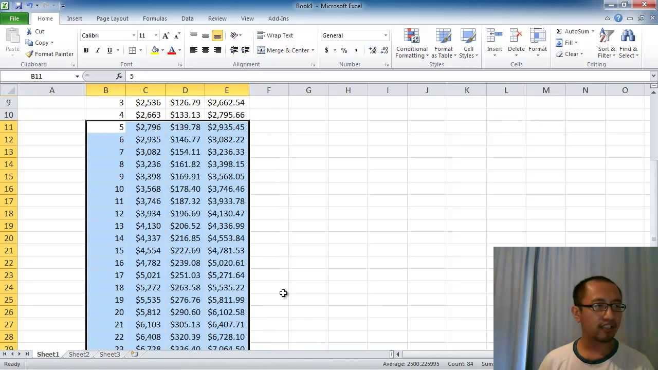 Microsoft Excel Lesson 2 - Compound Interest Calculator (Absolute  Referencing, Fill Down) - Youtube
