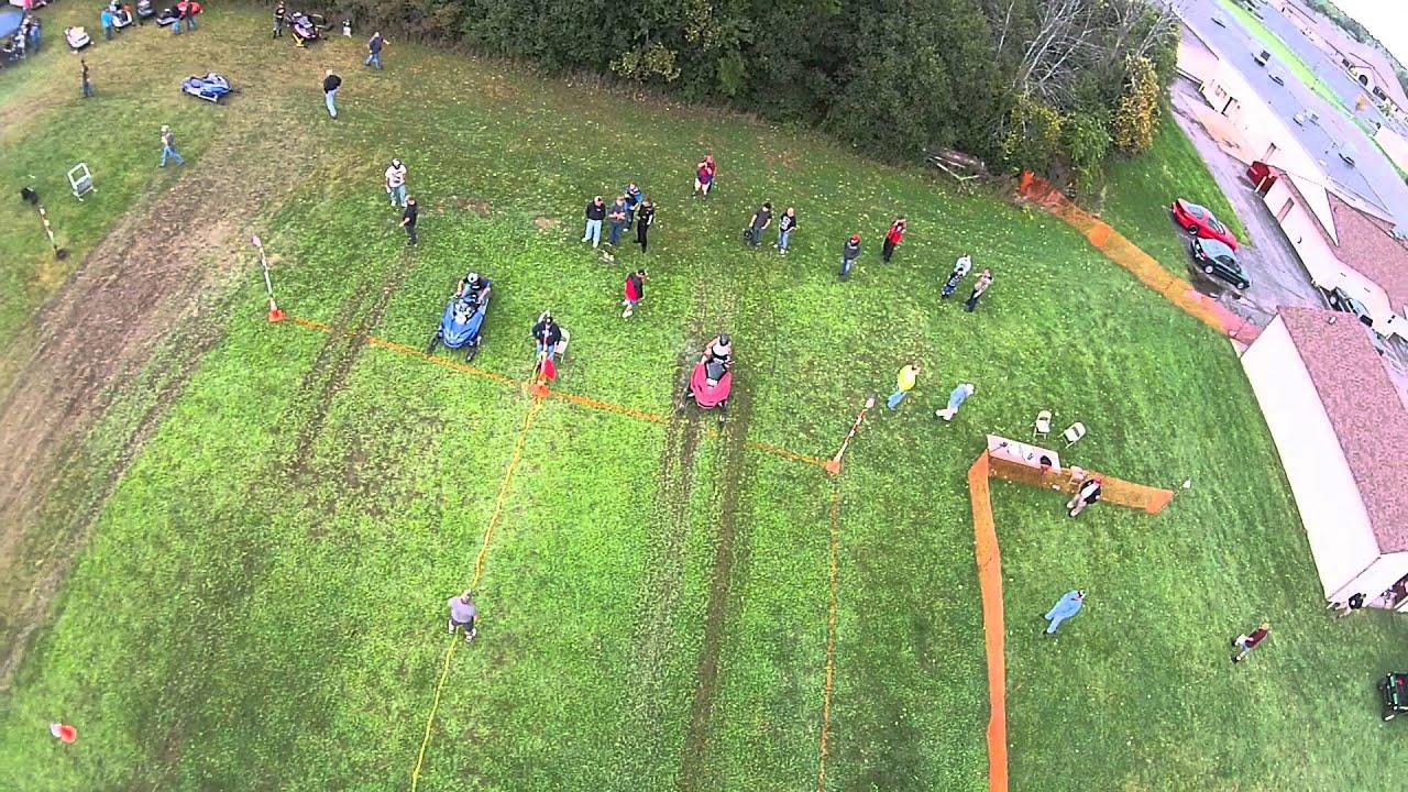 grass snowmobile drag racing 091915 pt7