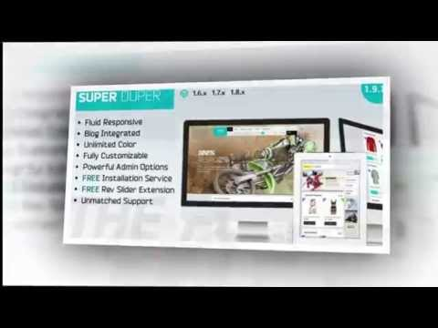 Super Duper Ultimate Responsive Magento Theme - Video ServerThemes.Net