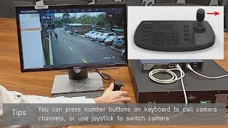 How to use 485 keyboard control DVR/NVR GUI4.0