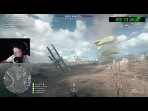 Battlefield 1 - Attack plane flying solo (mostly)