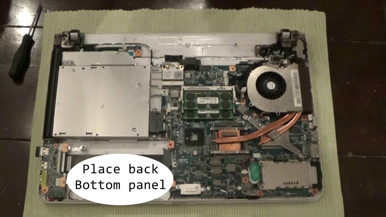sony vaio laptop vpc e series disassembly and fan cleaning step by rh youtube com sony vaio e series service manual sony vaio e series disassembly guide