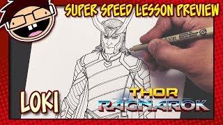 Lesson Preview: How to Draw LOKI (Thor: Ragnarok) | Super Speed Time Lapse Art
