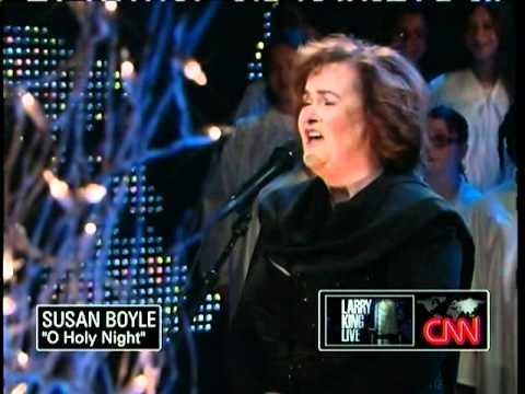 Susan Boyle ~ O Holy Night ~ Larry King Live (13 Dec 10). - YouTube