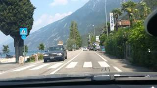 Italy Roads Around Garda Lake Drive North to Malcesina July 2015