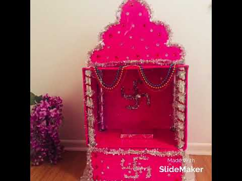 DIY Cardboard temple for pooja