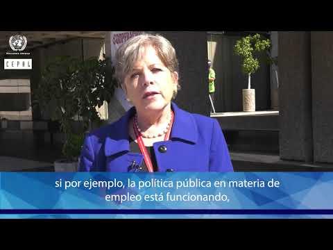 Alicia Bárcena, Secretaría Ejecutiva de la CEPAL explica importancia de la información estadística