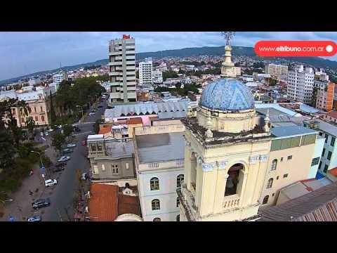San Salvador de Jujuy desde el aire