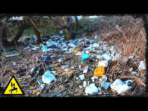 Plastic Pollution uk - DISCOVERED  While Magnet Fishing