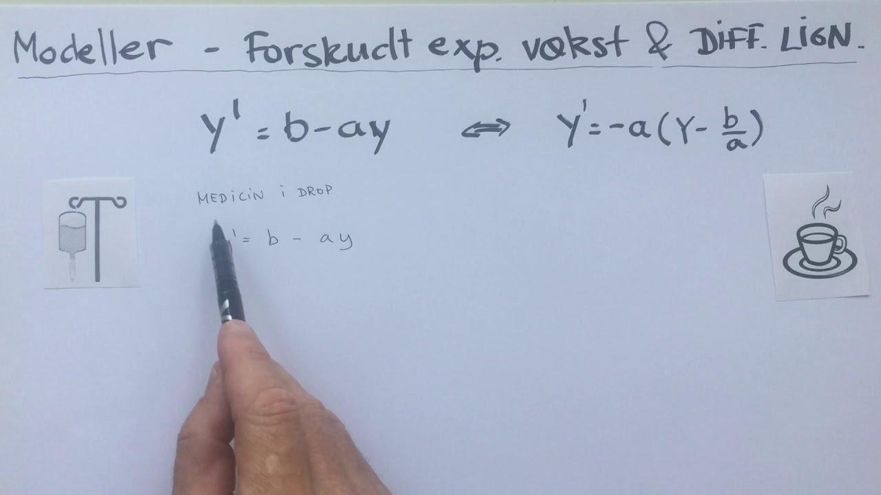 Modeller forskudt eksponentiel vaekst og difflign