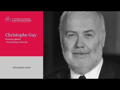 Christophe Guy à la Chambre de commerce du Montréal métropolitain