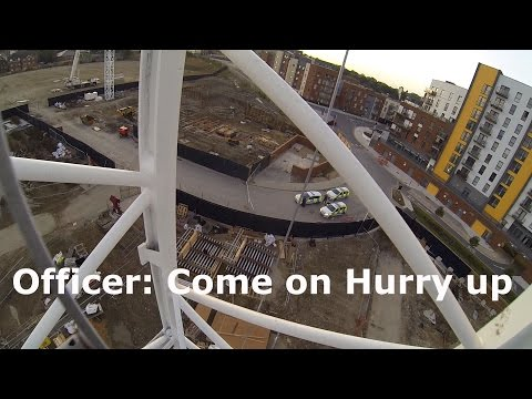 CAUGHT BY THE POLICE! Climbing a New Crane in Southampton