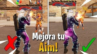 How TO IMPROVE AIM in Fortnite in CONSOLA *YOU WILL BE A GOD*!