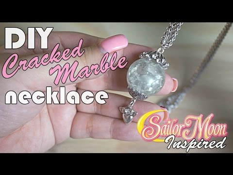 So easy so kawaii diy cracked marble necklace sailor for How to make marble jewelry