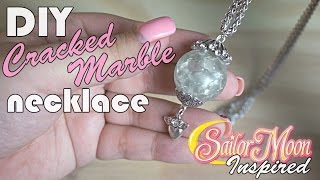 DIY Cracked Marble Necklace Sailor Moon Inspired
